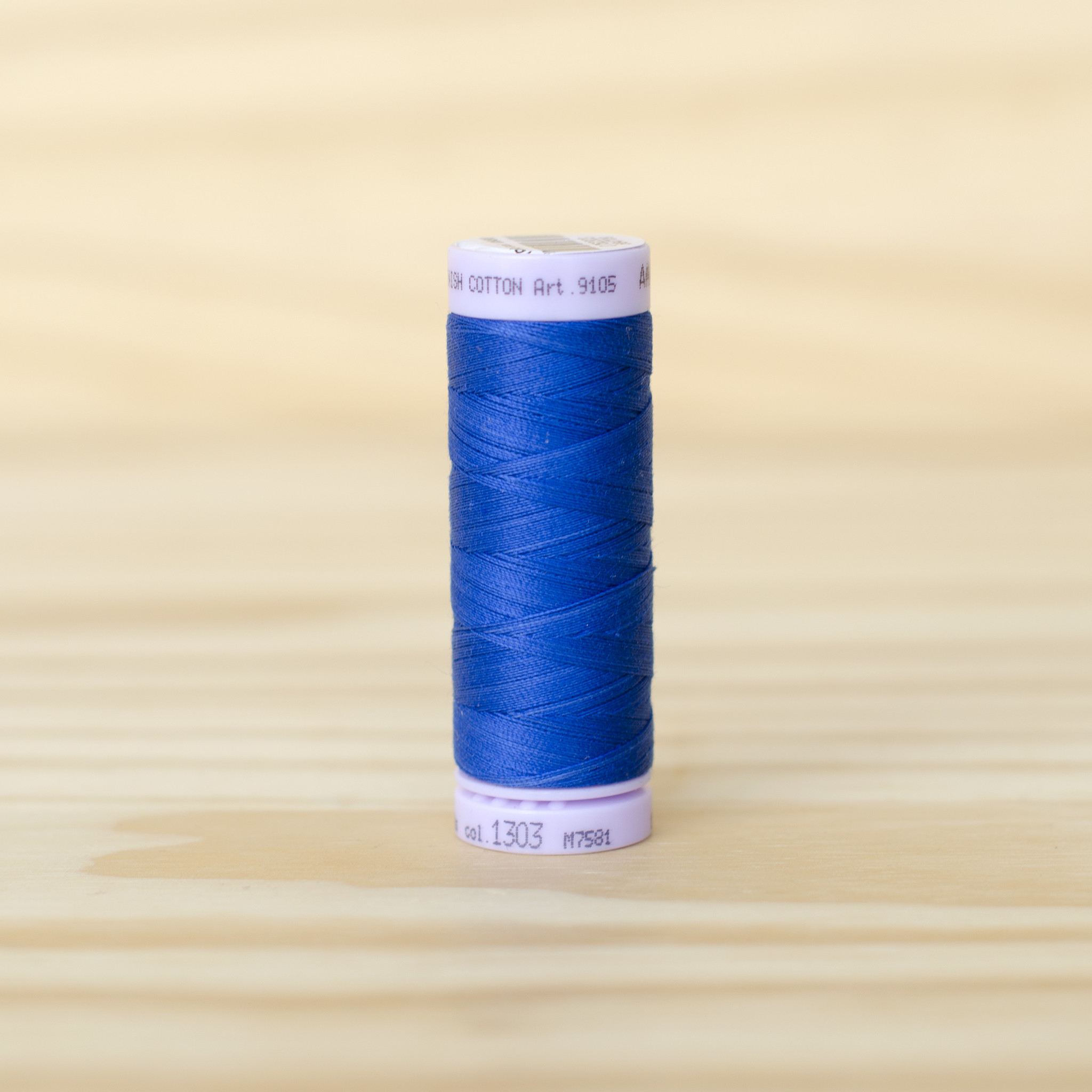 Mettler : Silk Finish 50wt Thread : 100% Cotton : 1303 Royal Blue