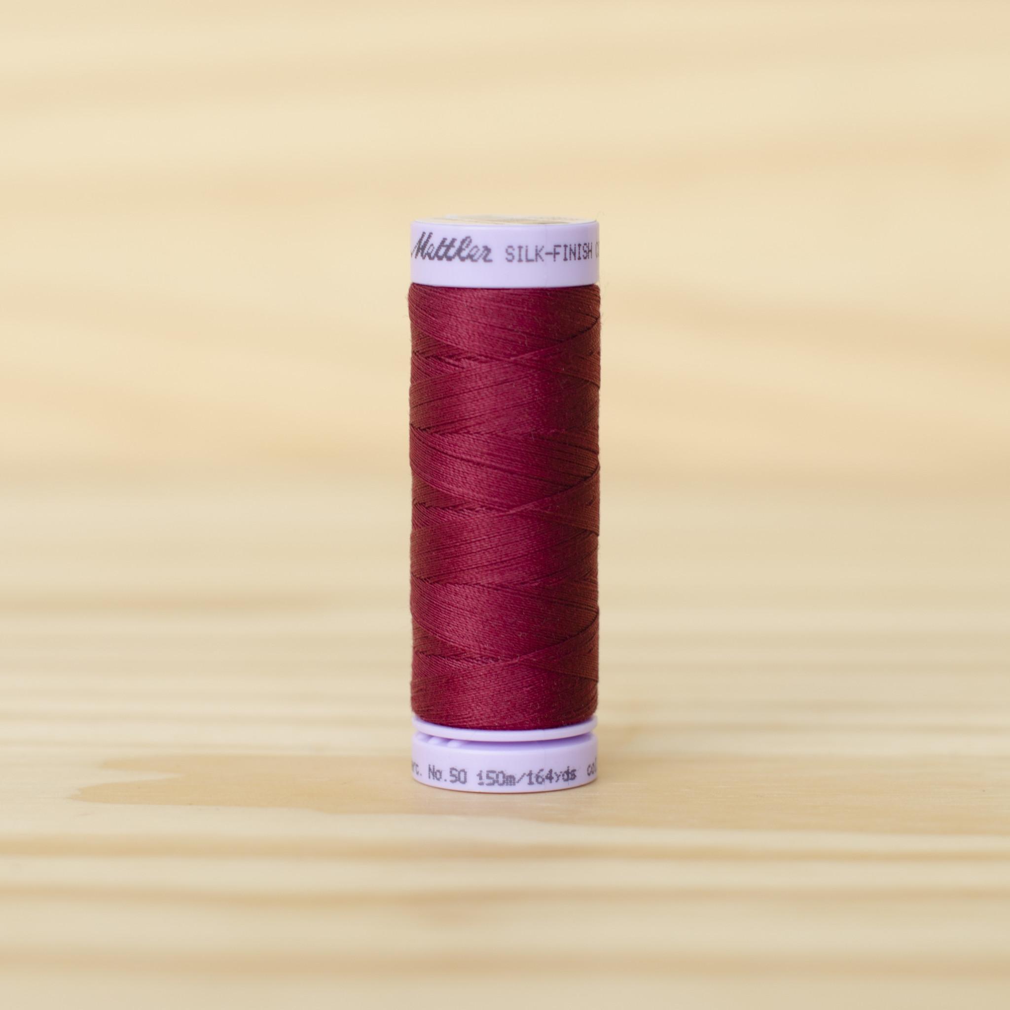 Mettler : Silk Finish 50wt Thread : 100% Cotton : 0918 Cranberry