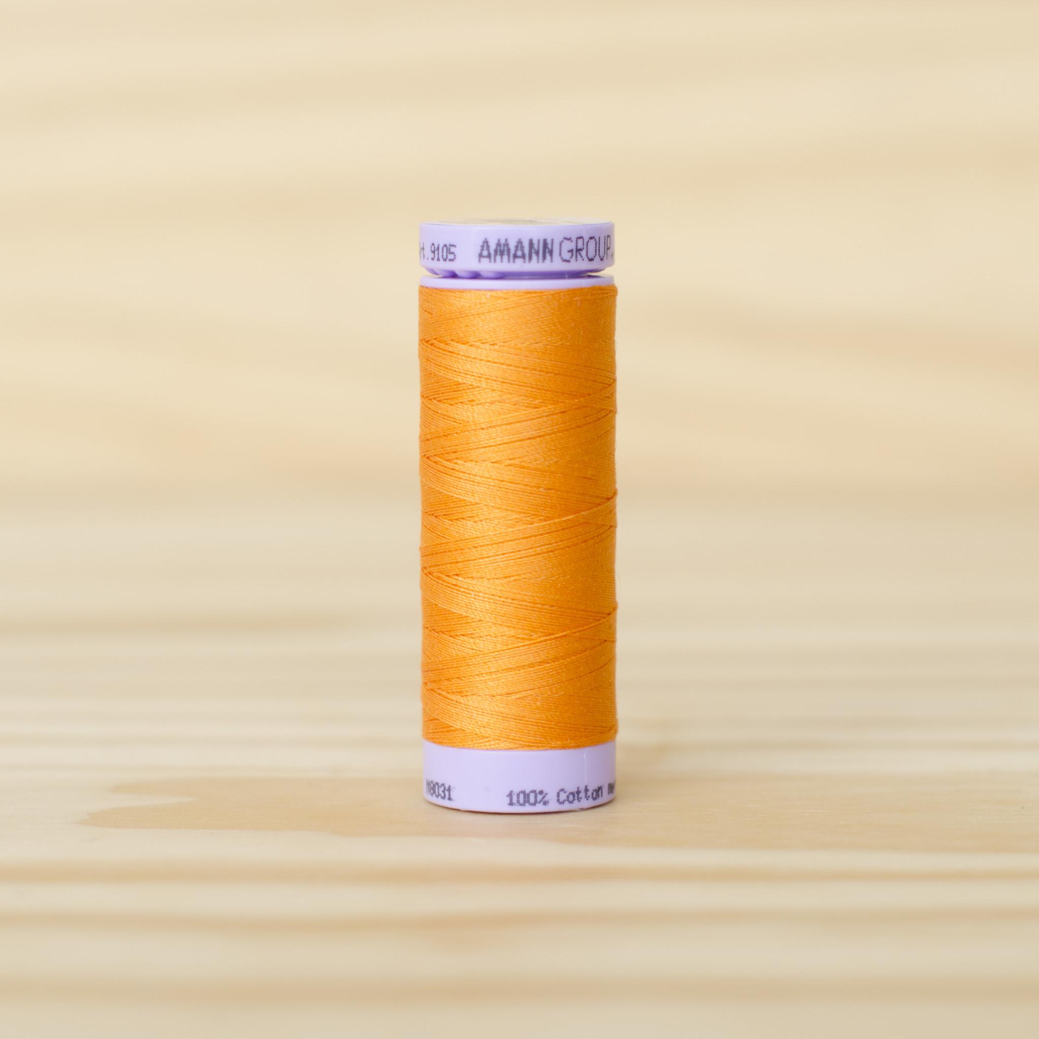 Mettler : Silk Finish 50wt Thread : 100% Cotton : 0122 Pumpkin