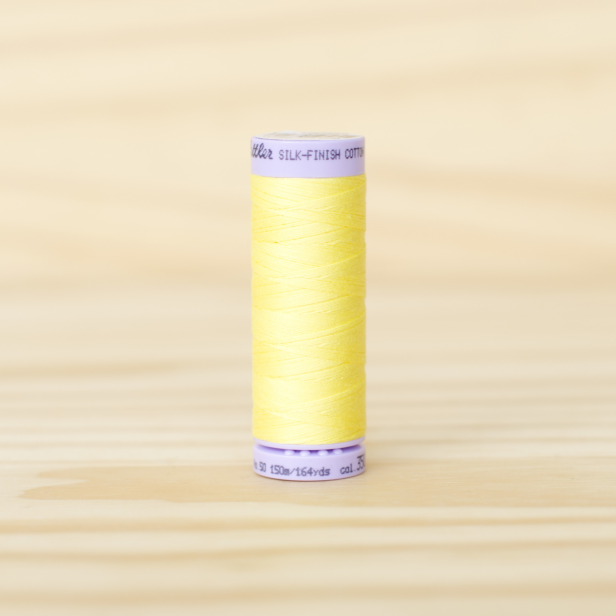 Mettler : Silk Finish 50wt Thread : 100% Cotton : 3507 Lemon Zest