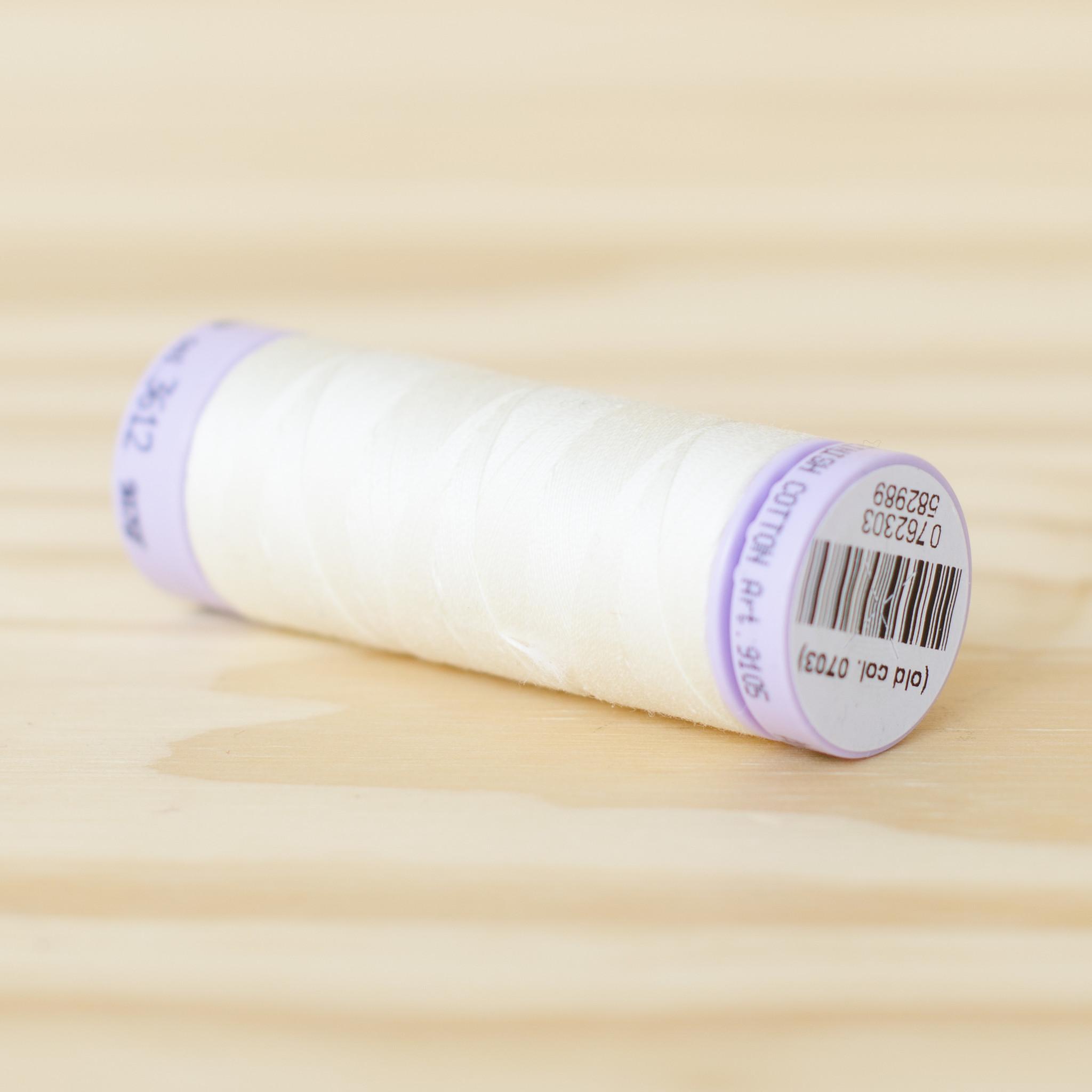 Mettler : Silk Finish 50wt Thread : 100% Cotton : 3612 Antique White