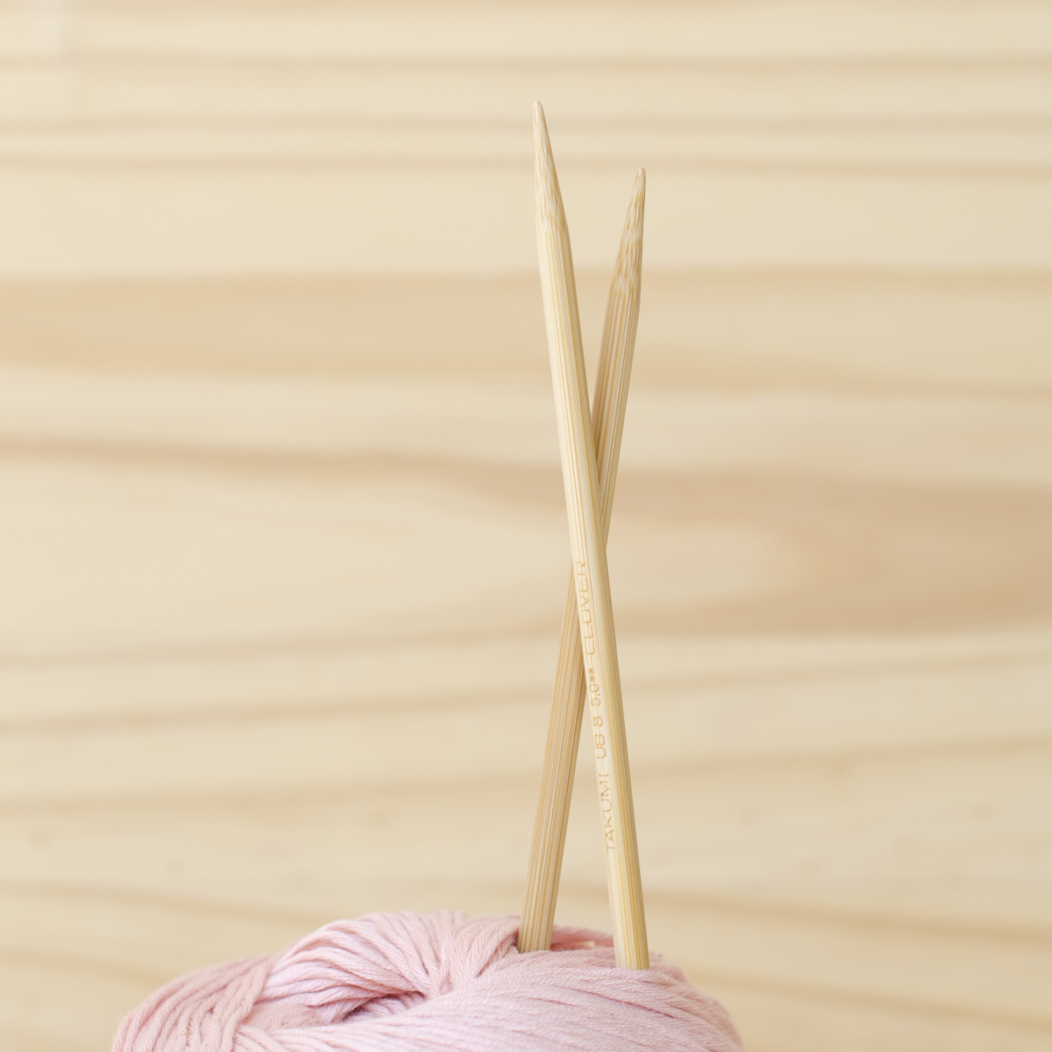 Clover : Bamboo Double Pointed Knitting Needles : 5mm