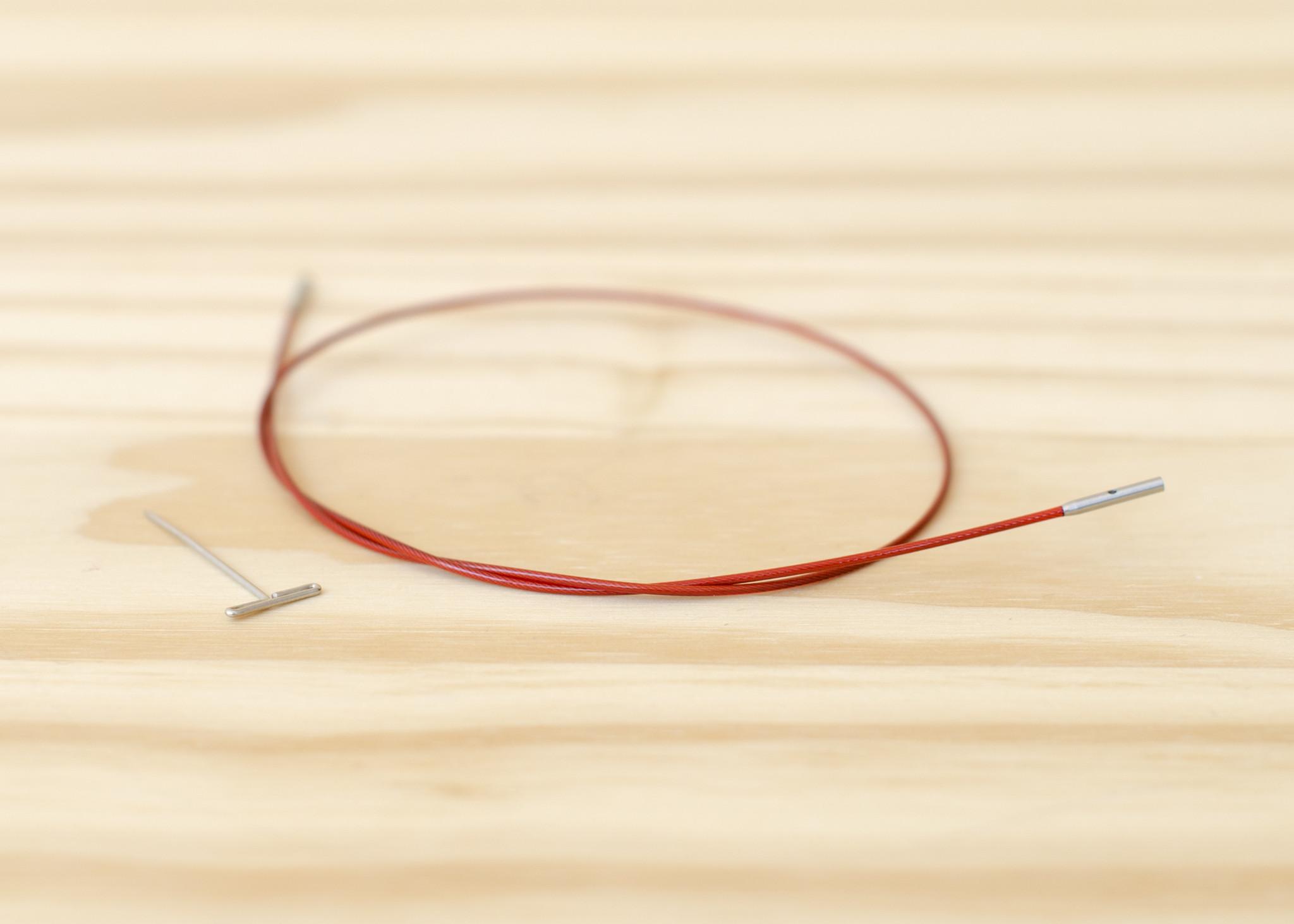 "ChiaoGoo Twist Interchangeable Red Cable : Mini : 14""/35cm"