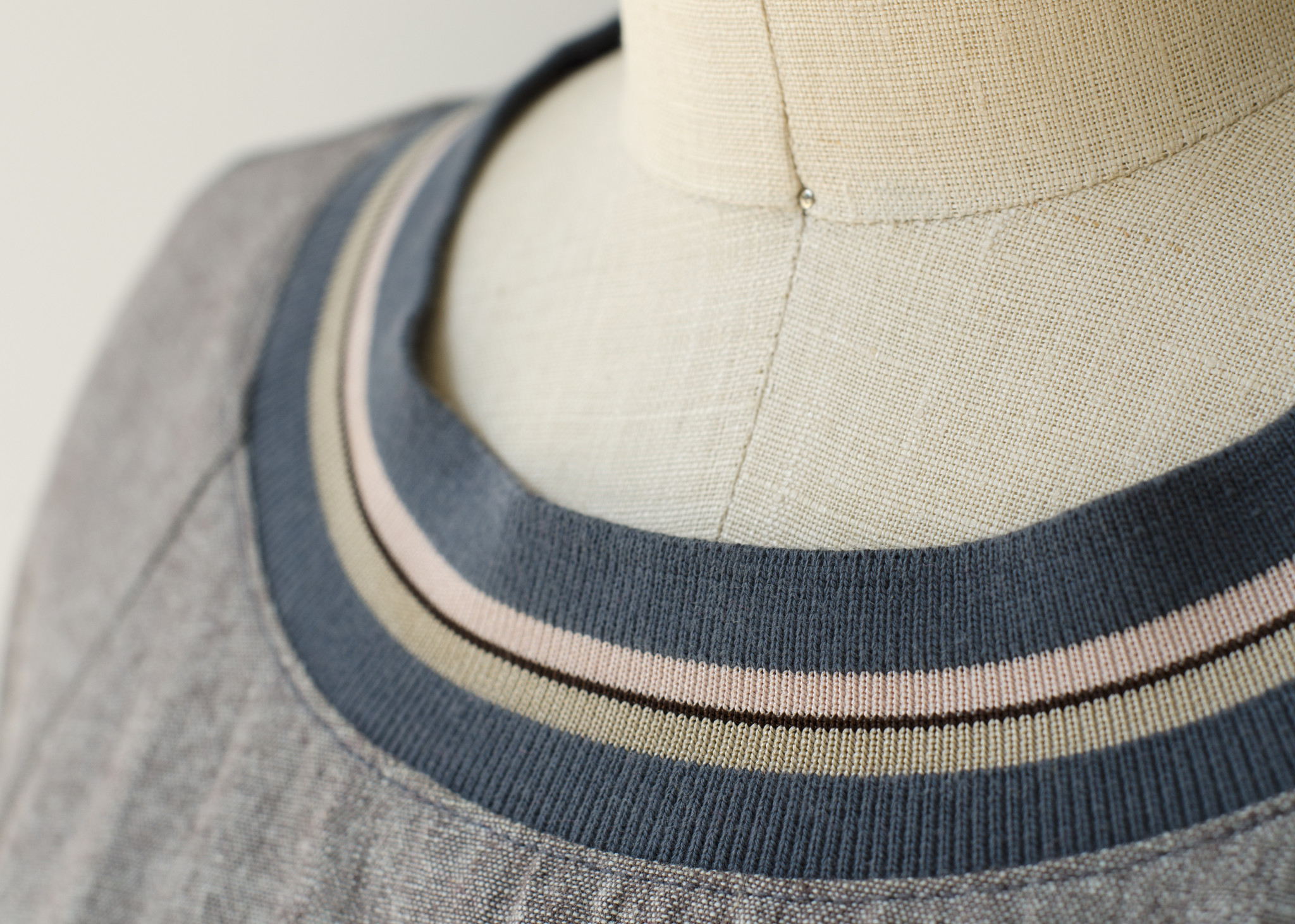 Merchant & Mills : Ribbing : Ice and Cream : 1 metre