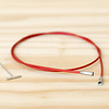 "ChiaoGoo Twist Interchangeable Red Cable : Large : 22""/55cm"