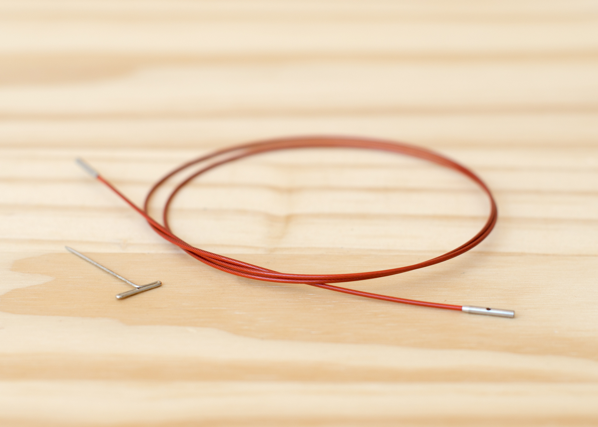 "ChiaoGoo Twist Interchangeable Red Cable : Mini : 22""/55cm"