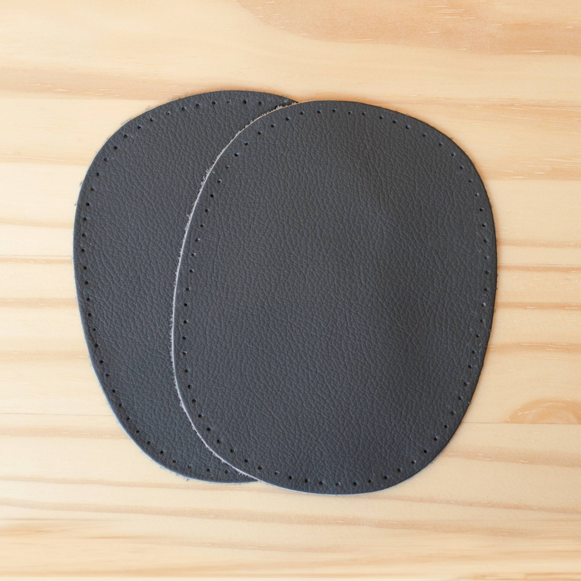 Prym : Grey Leather Patches : 2 count