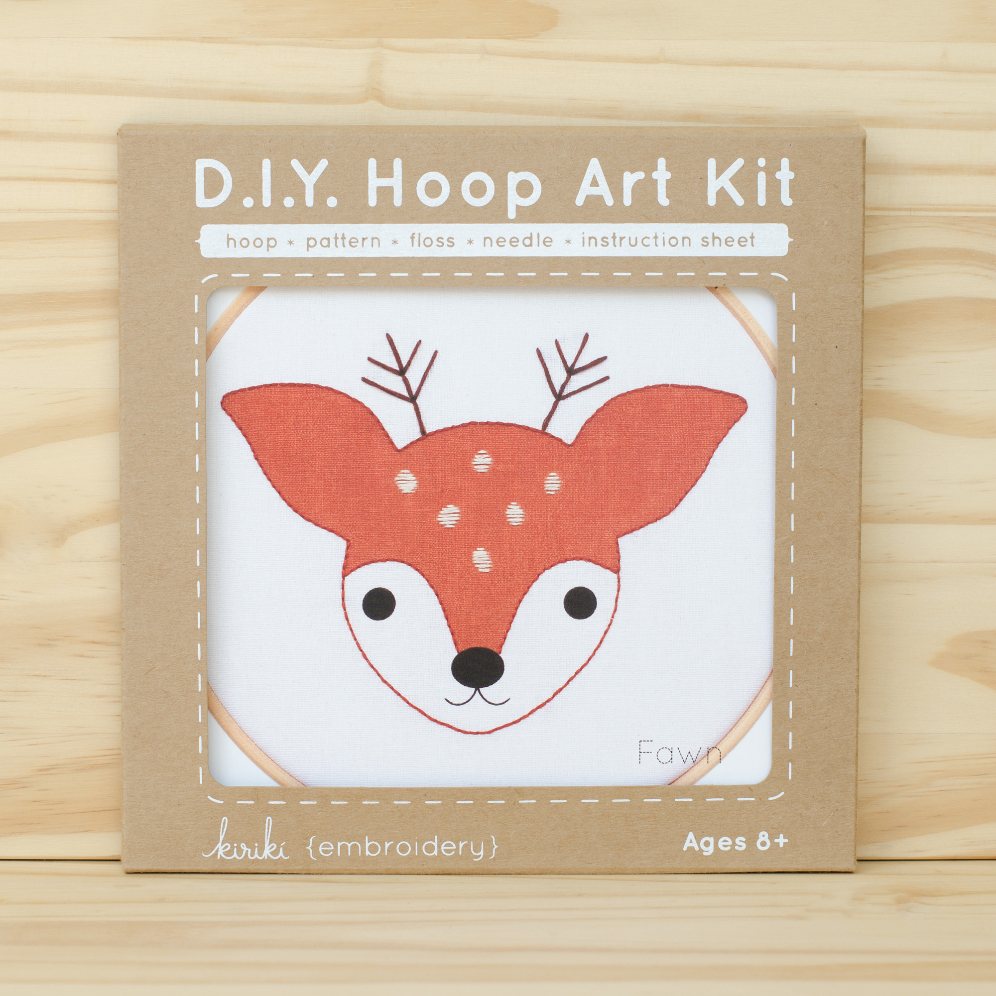 Kiriki Press : Hoop Art Kit : Fawn