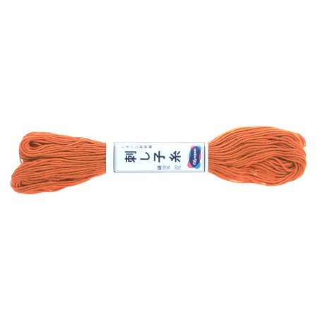 Olypus Sashiko Thread : 04 Carrot Orange : 20 metres