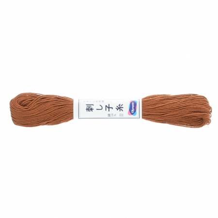 Olypus Sashiko Thread : 03 Brown : 20 metres