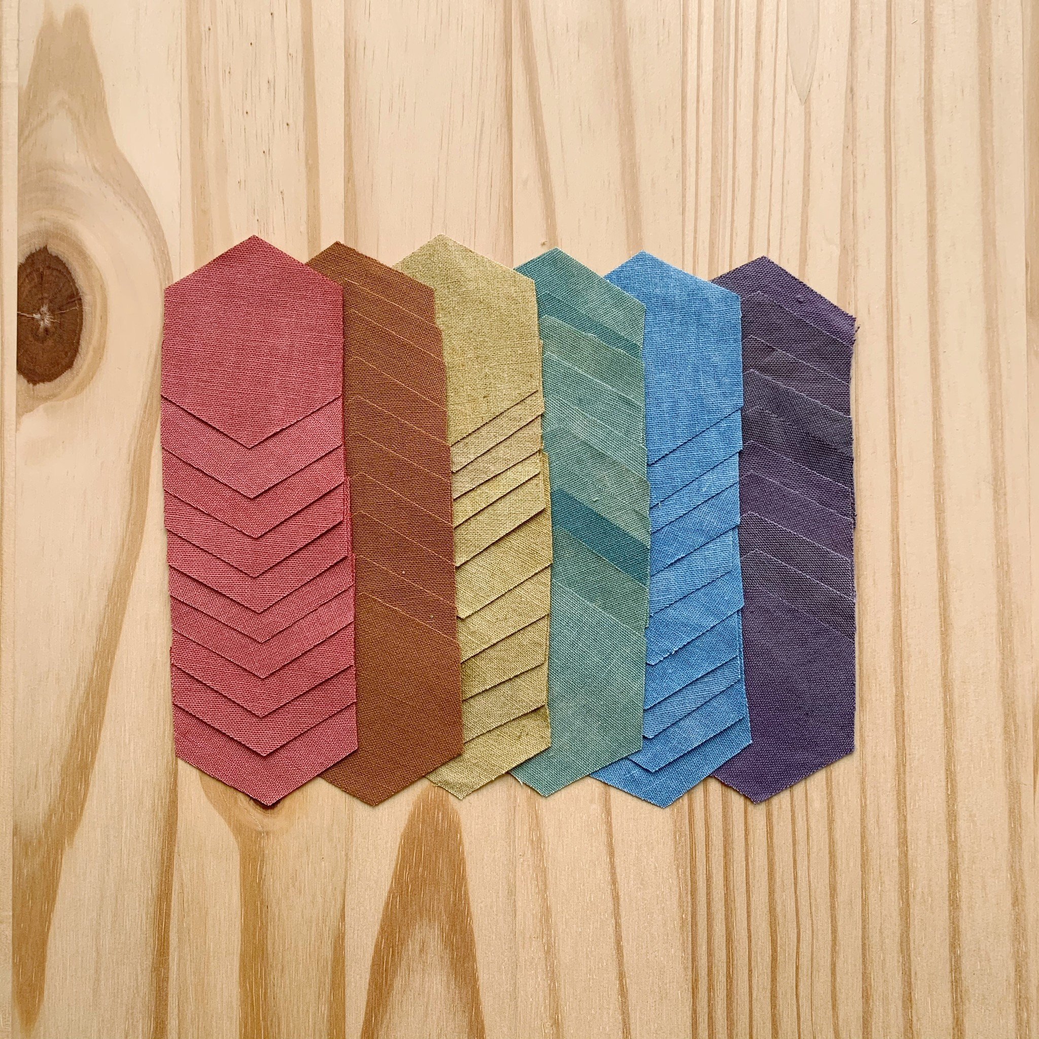 English Paper Piecing Kit : Rainbow
