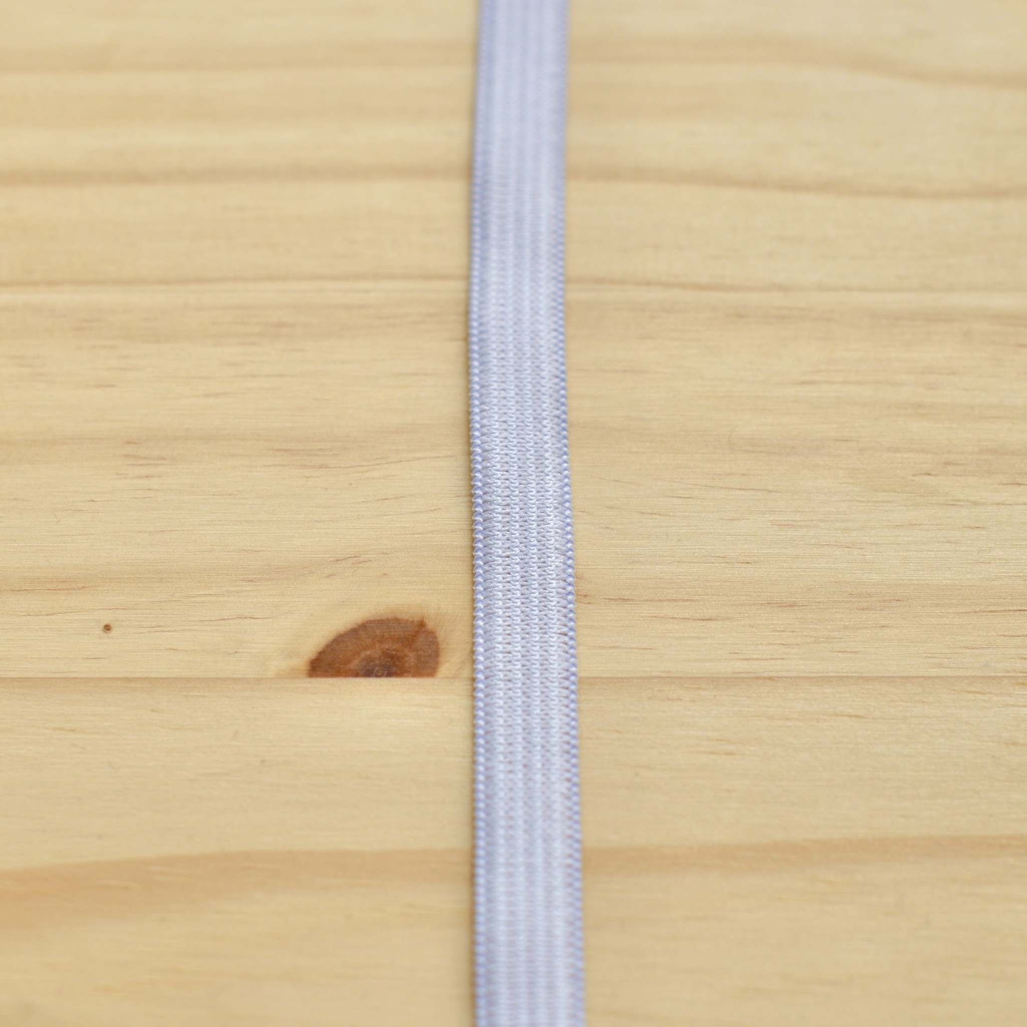 "Elastic : White : 3/8"" (9.5mm) : 1 metre"