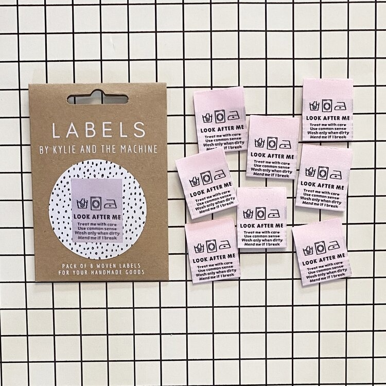 Kylie and the Machine : Woven Labels 8 Pack : Look After Me