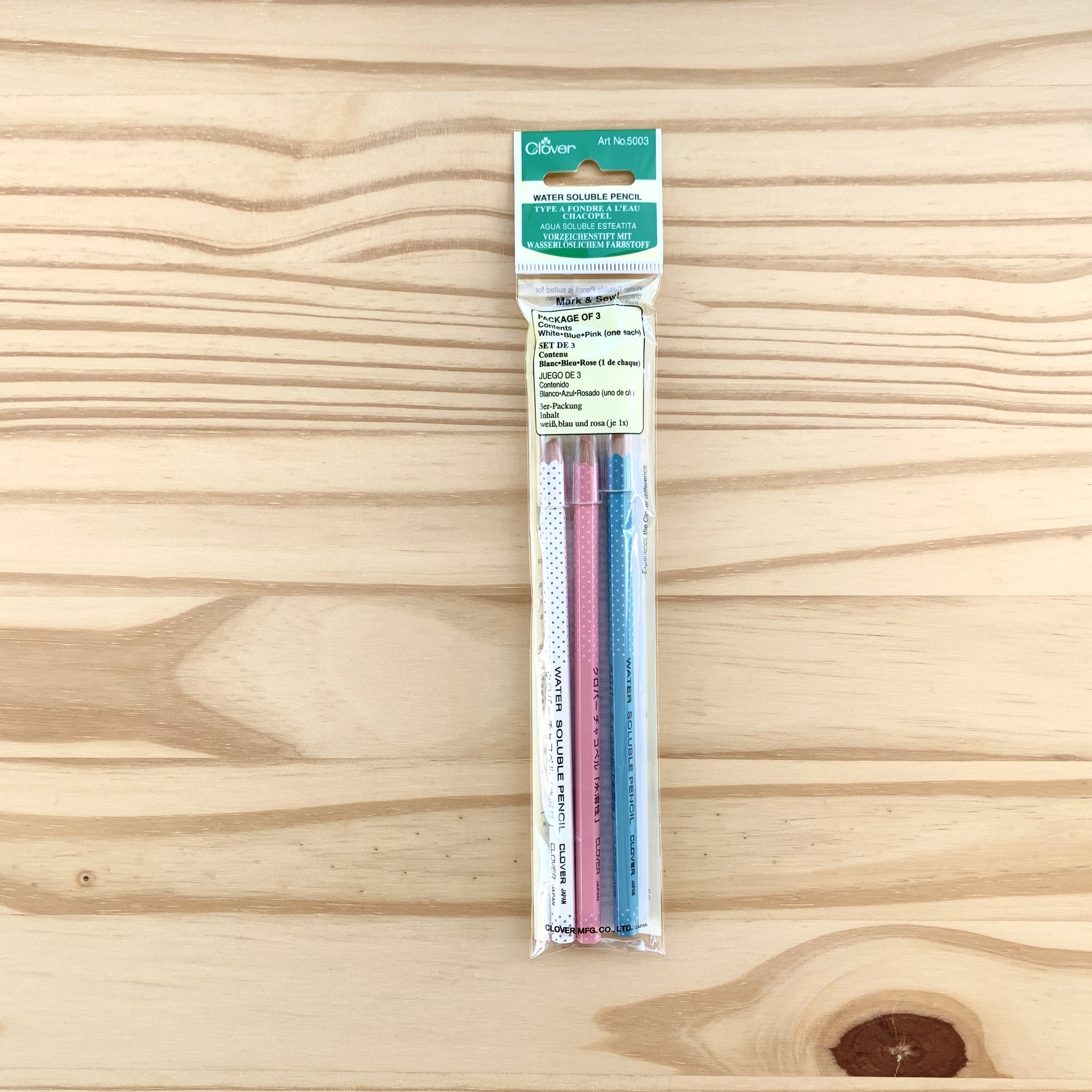 Clover : Water Soluble Pencil : Package Of 3
