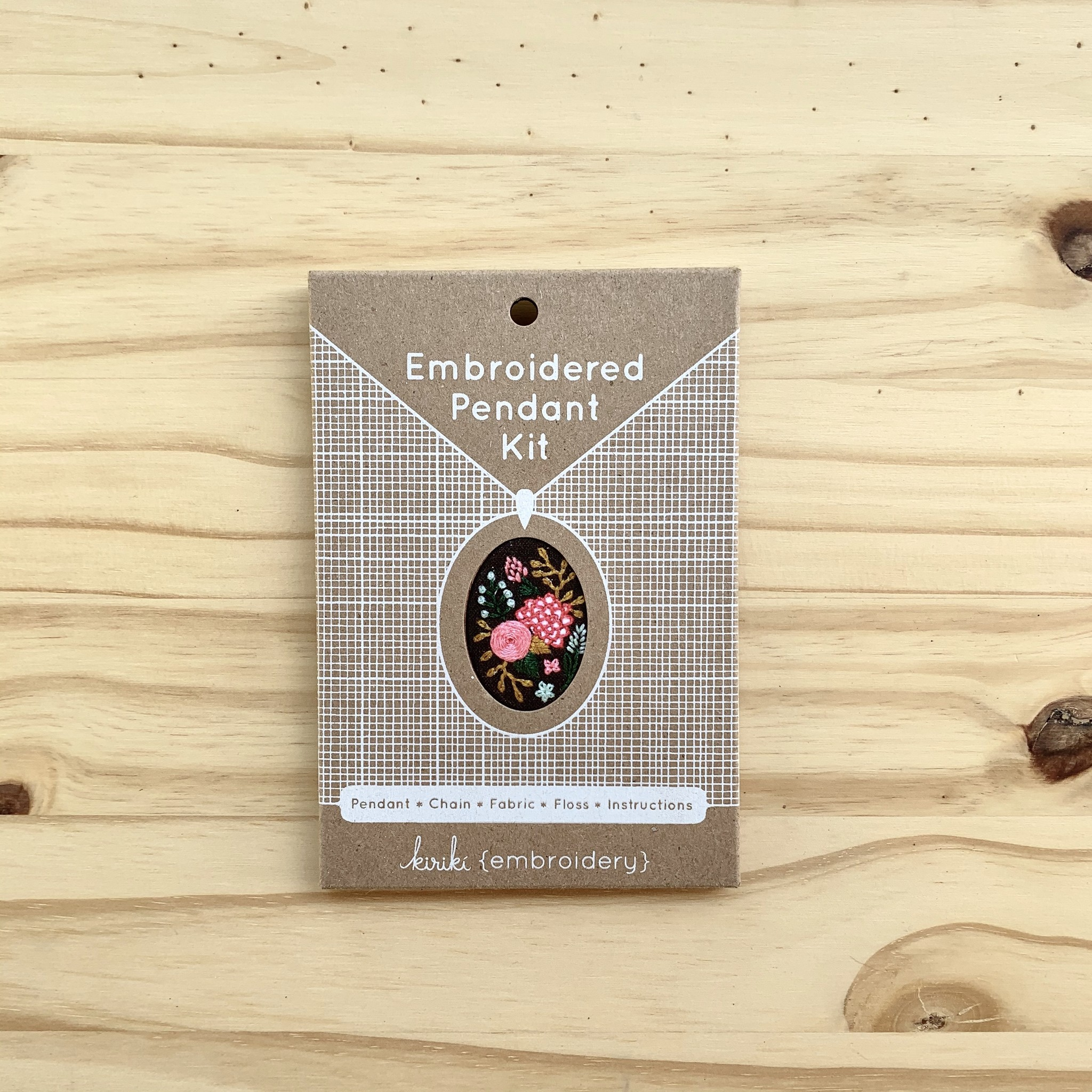 Kiriki Press : Embroidered Pendant Kit : Wildflowers
