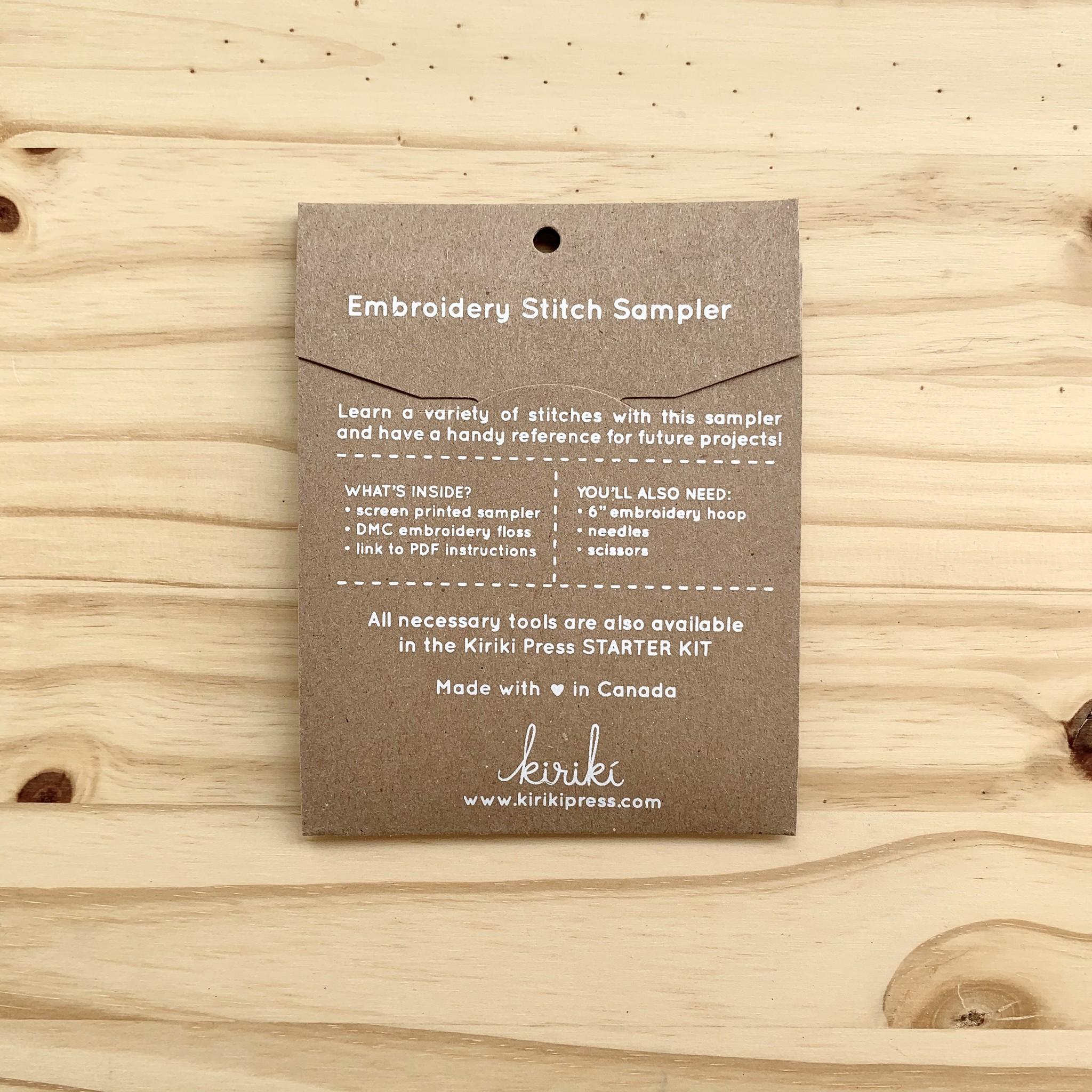 Kiriki Press : Stitch Sampler : Hanging Plant