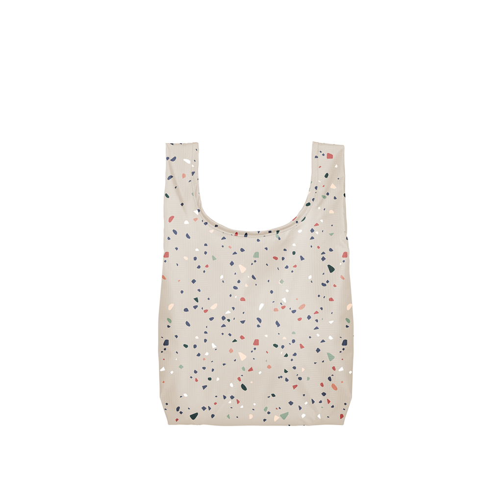 Talking Out of Turn : Twist & Shout Tote Small :  Cream Terrazzo