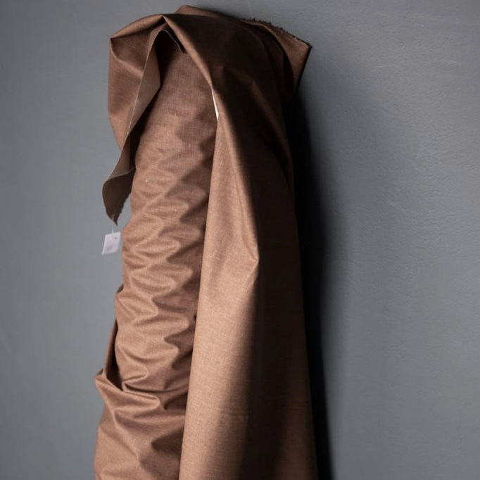 Merchant & Mills : Chestnut Coated Linen : 1/2 metre