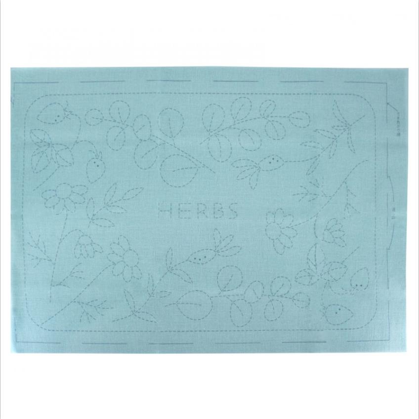 Emma Creation : Sashiko Sampler Placemat : Herbs
