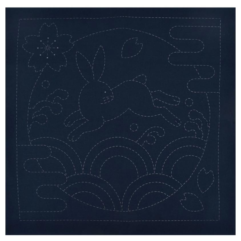 Olympus : Sashiko Sampler - Usagi & Seikai-Ha : Navy