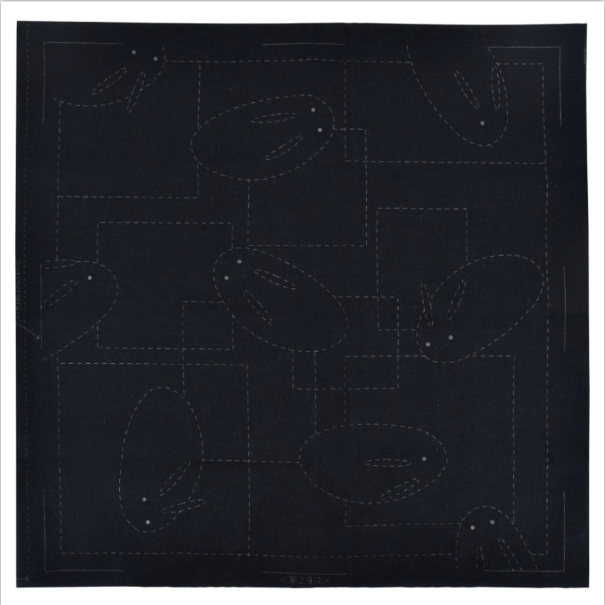 Olympus : Sashiko Sampler - Rabbit : Black