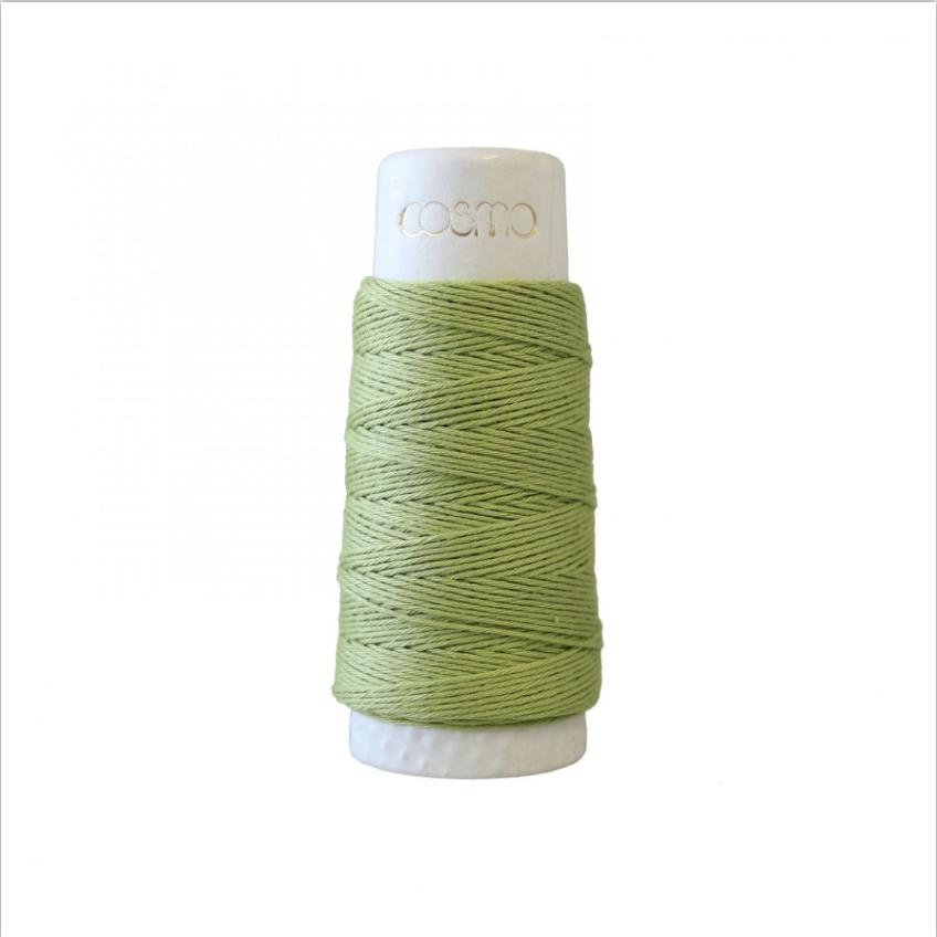 Lecien : Cosmo Hidamari Sashiko Thread : 15 Green Tea