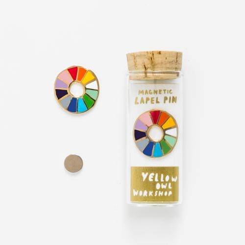 Yellow Owl Workshop : Color Wheel Lapel Pin