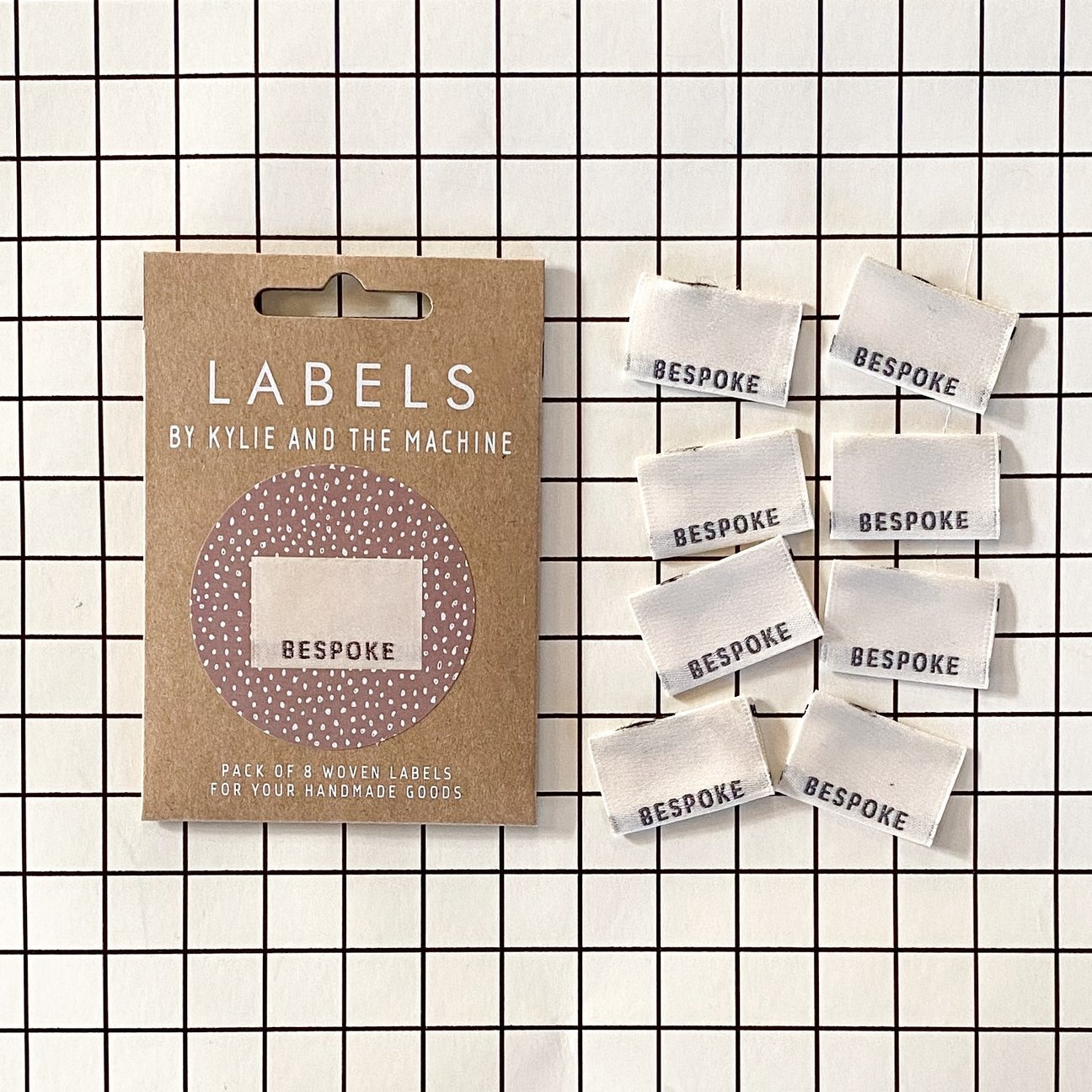 Kylie and the Machine : Woven Labels 8 Pack : Bespoke