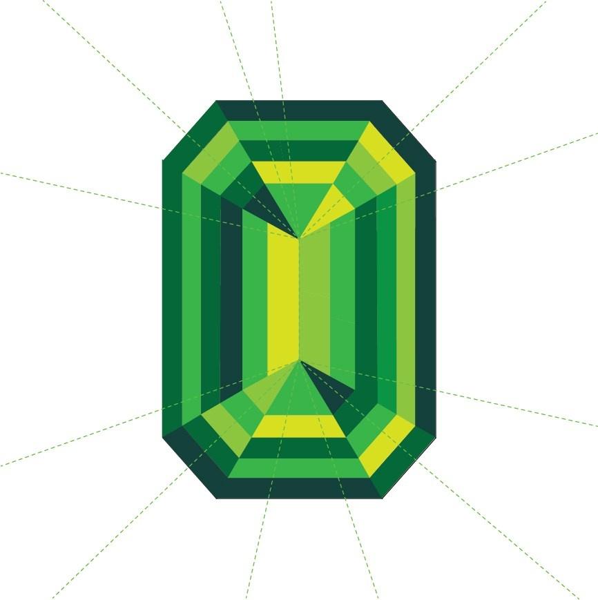 3rd Story Workshop : Emerald Cut Paper Piecing Pattern