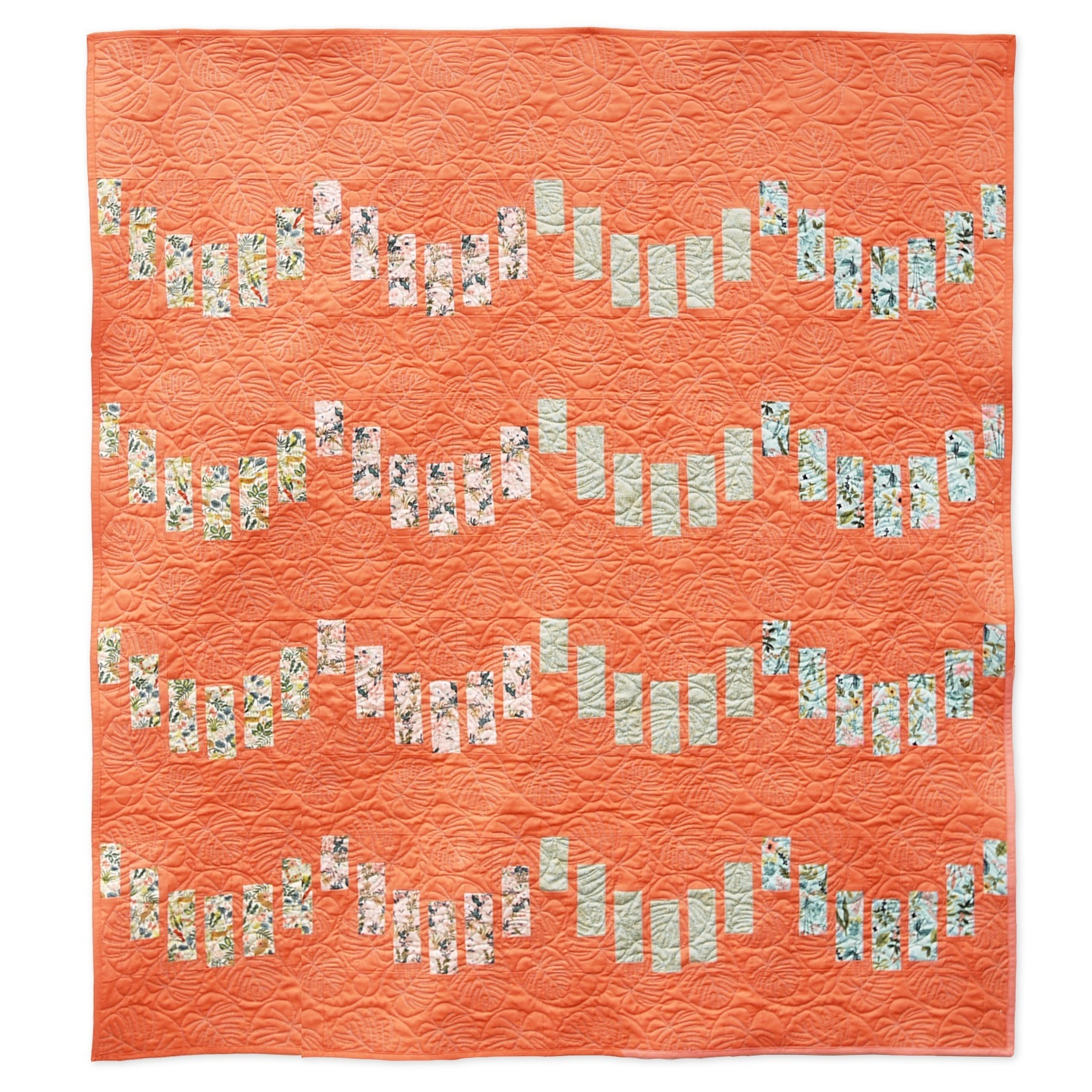 3rd Story Workshop : Striped Scallops Quilt Pattern