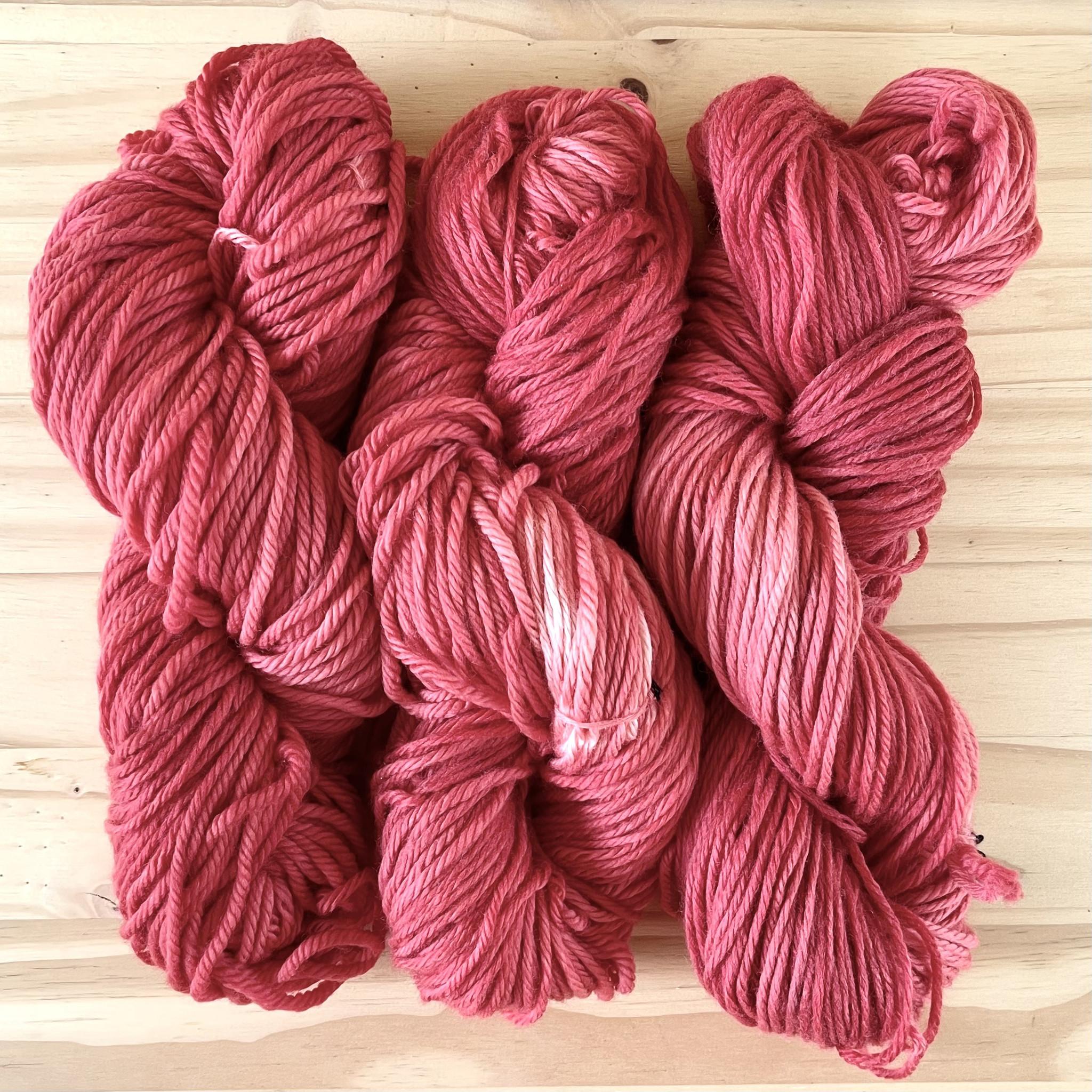 Hand Dyed Yarn : Madder Red