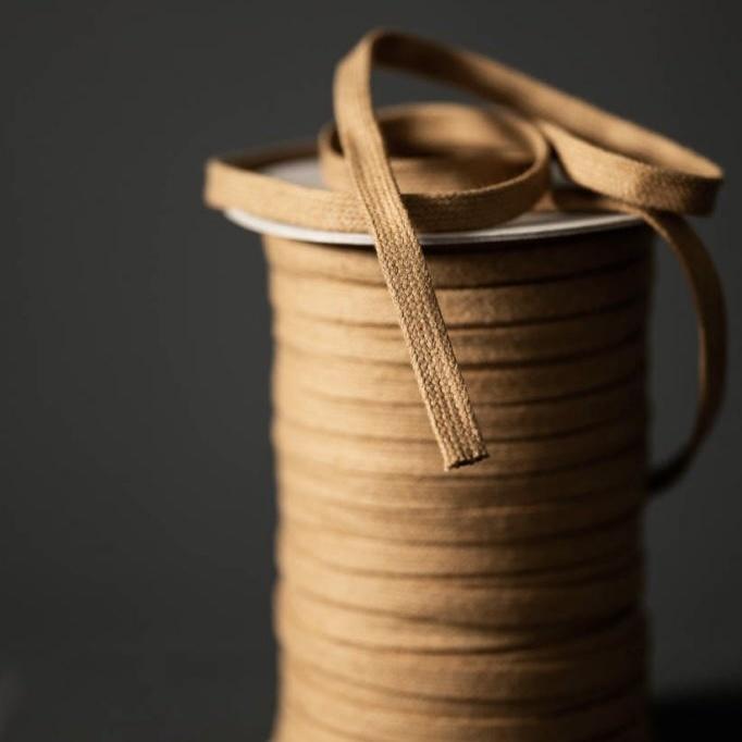Merchant & Mills : Recycled Drawstring Webbing : Camel : 1/2 metre