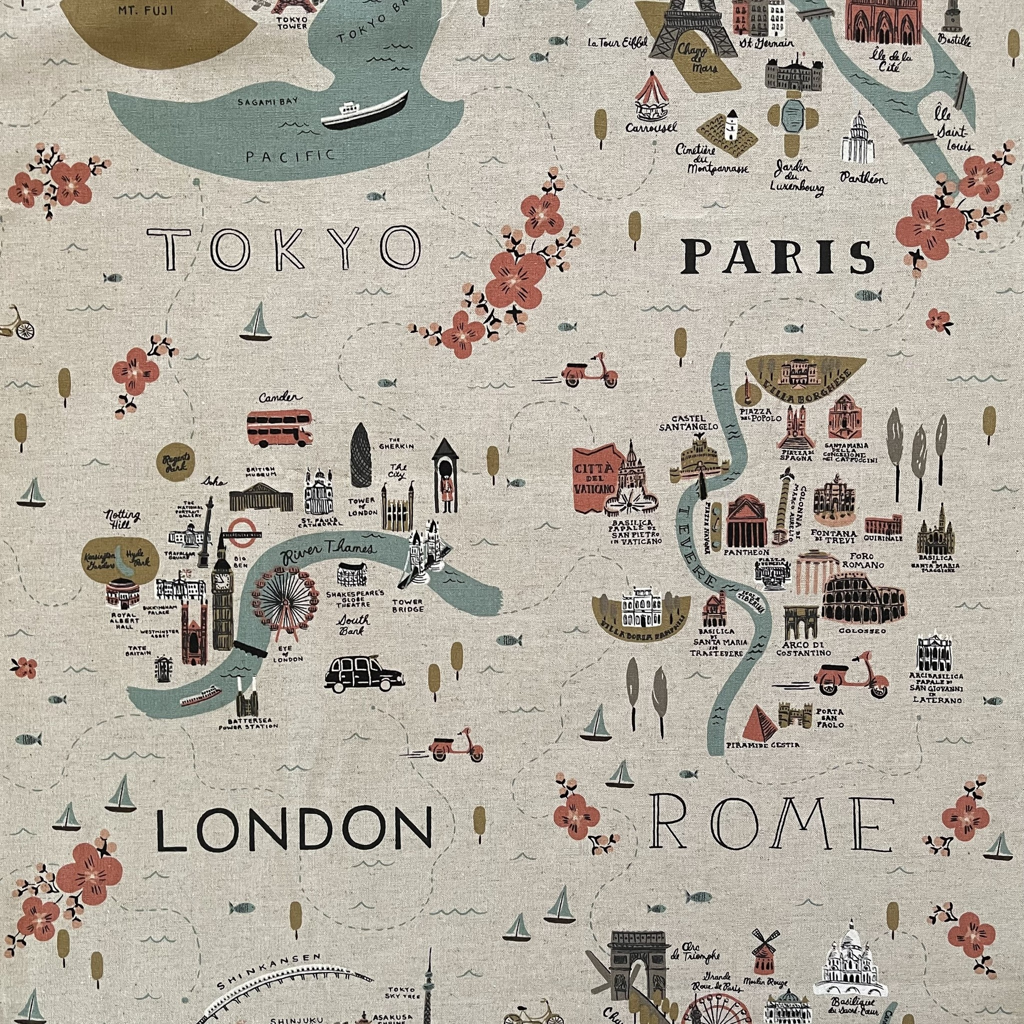 Vintage + Pre-Loved : Canvas Maps by Rifle Paper Co.