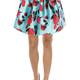 floral taffeta skirt