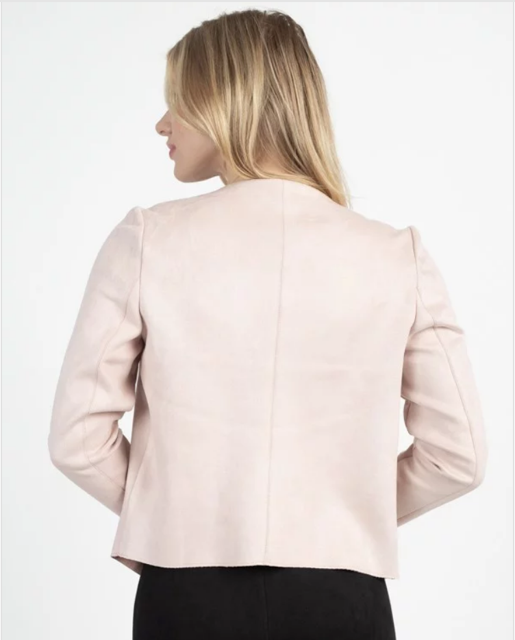 faux suede waterfall jacket