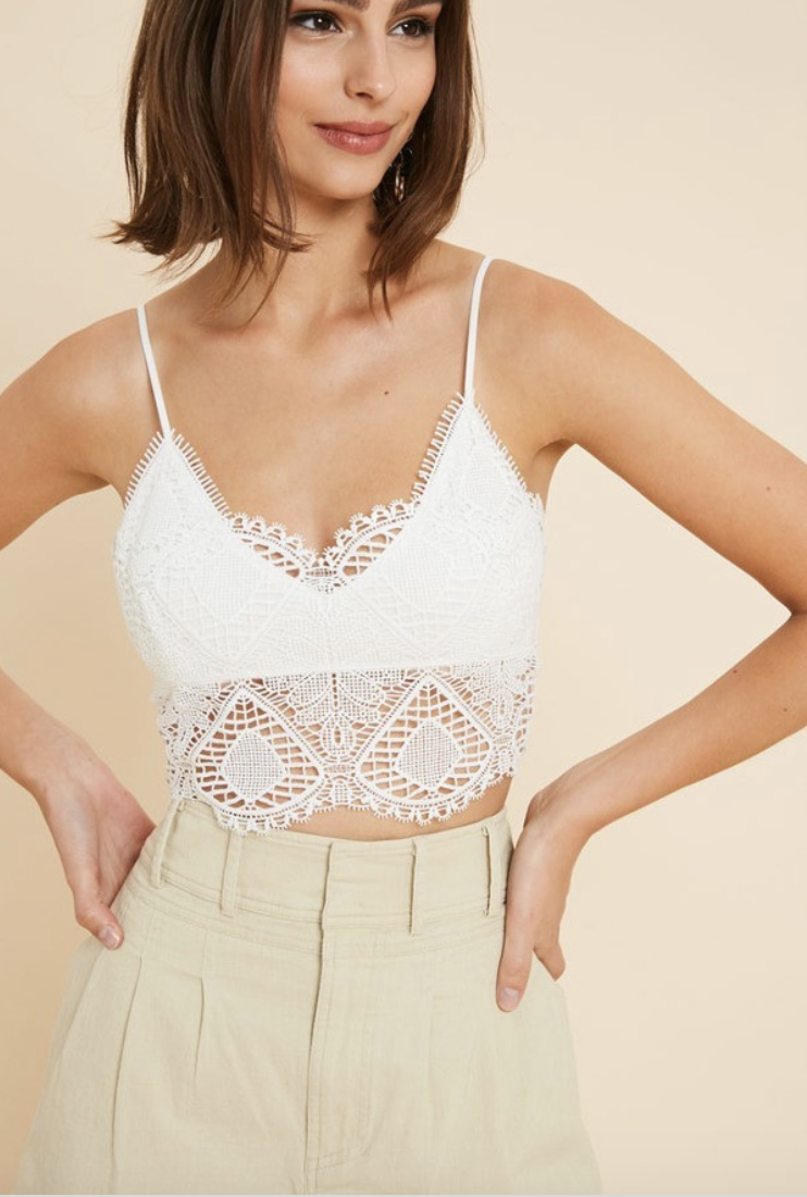 long bottom crochet bralette