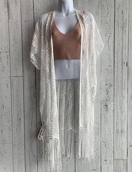 lace & fringe kimono