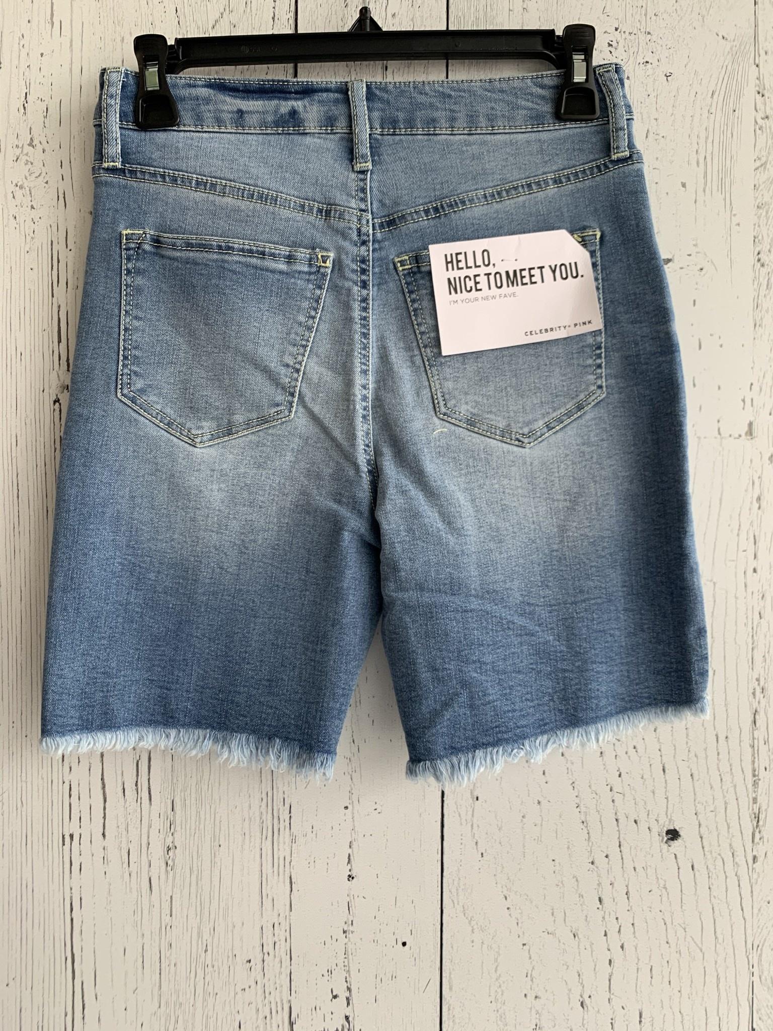 freyed bermuda shorts
