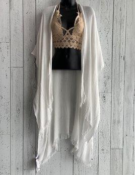 long fringe bottom kimono