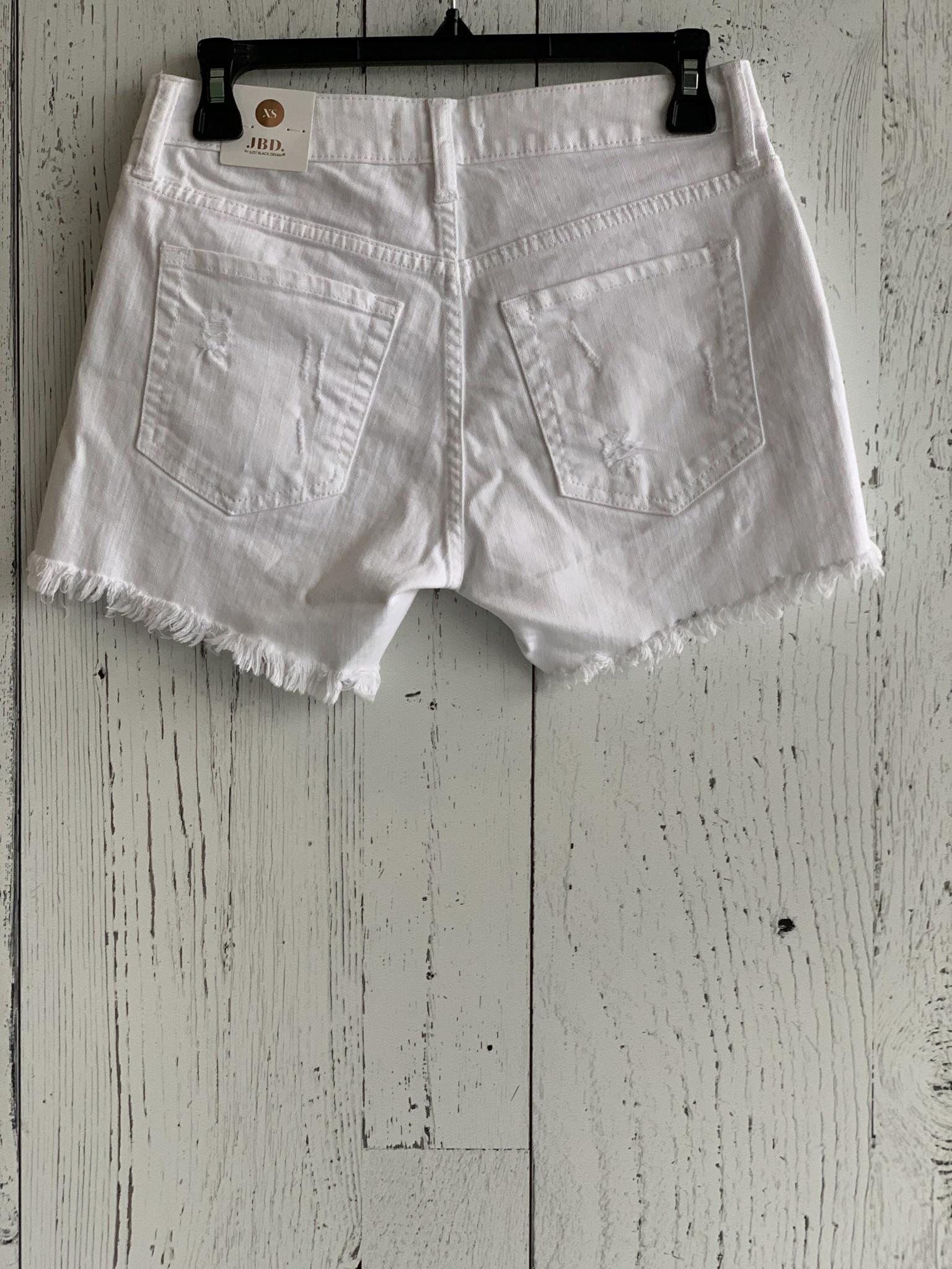 h/r fringe hem shorts