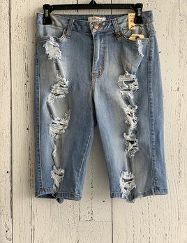 distressed bermuda shorts