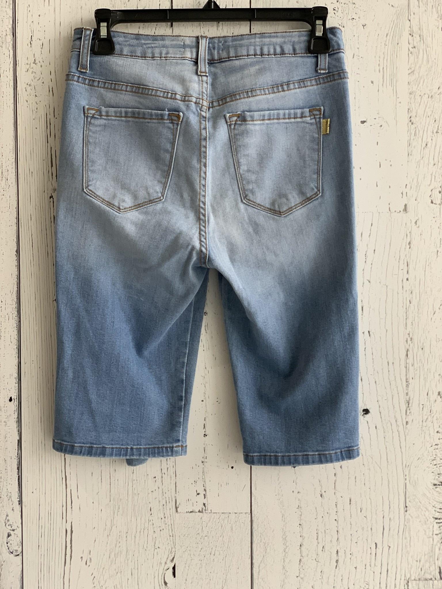 vibrant - distressed bermuda shorts
