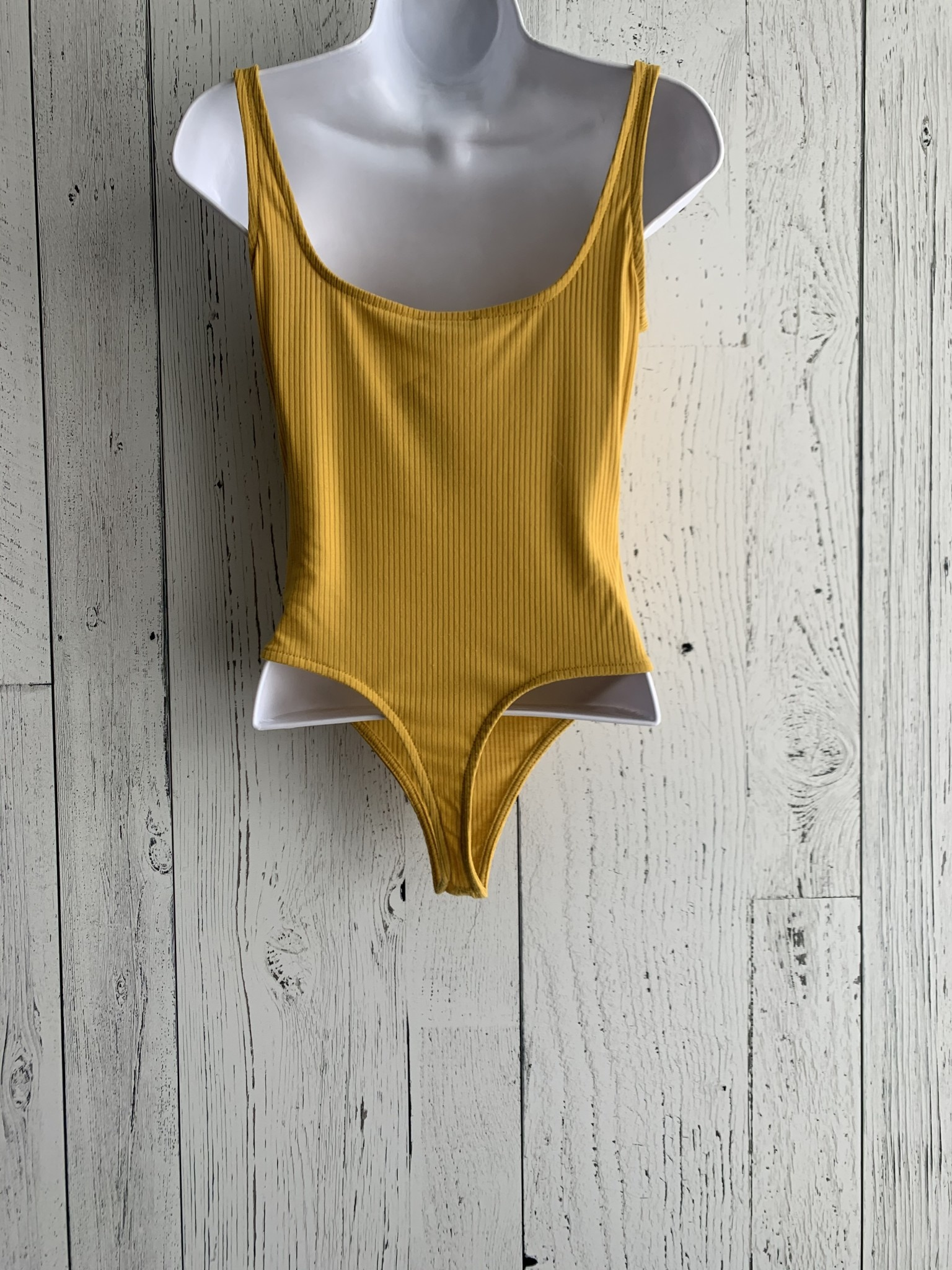 snap front ribbed bodysuit