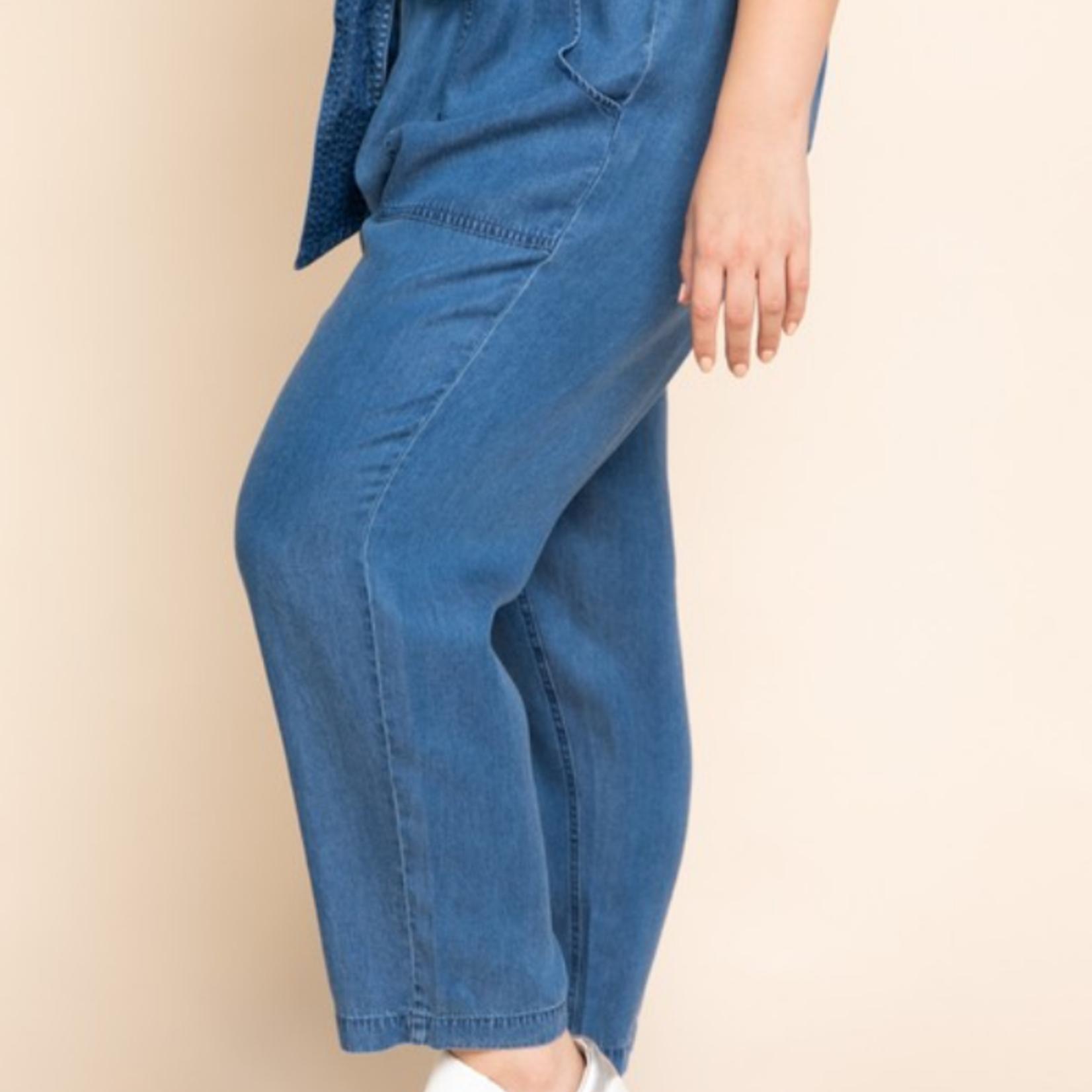 curvy paper bag pants