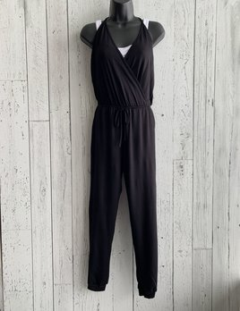 terry cross front jumpsuit