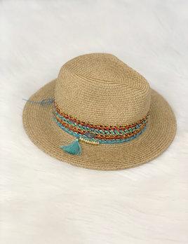 sunhat - teal & coral trim