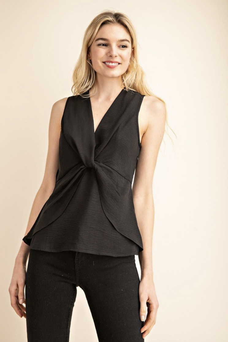 knot front tulip blouse