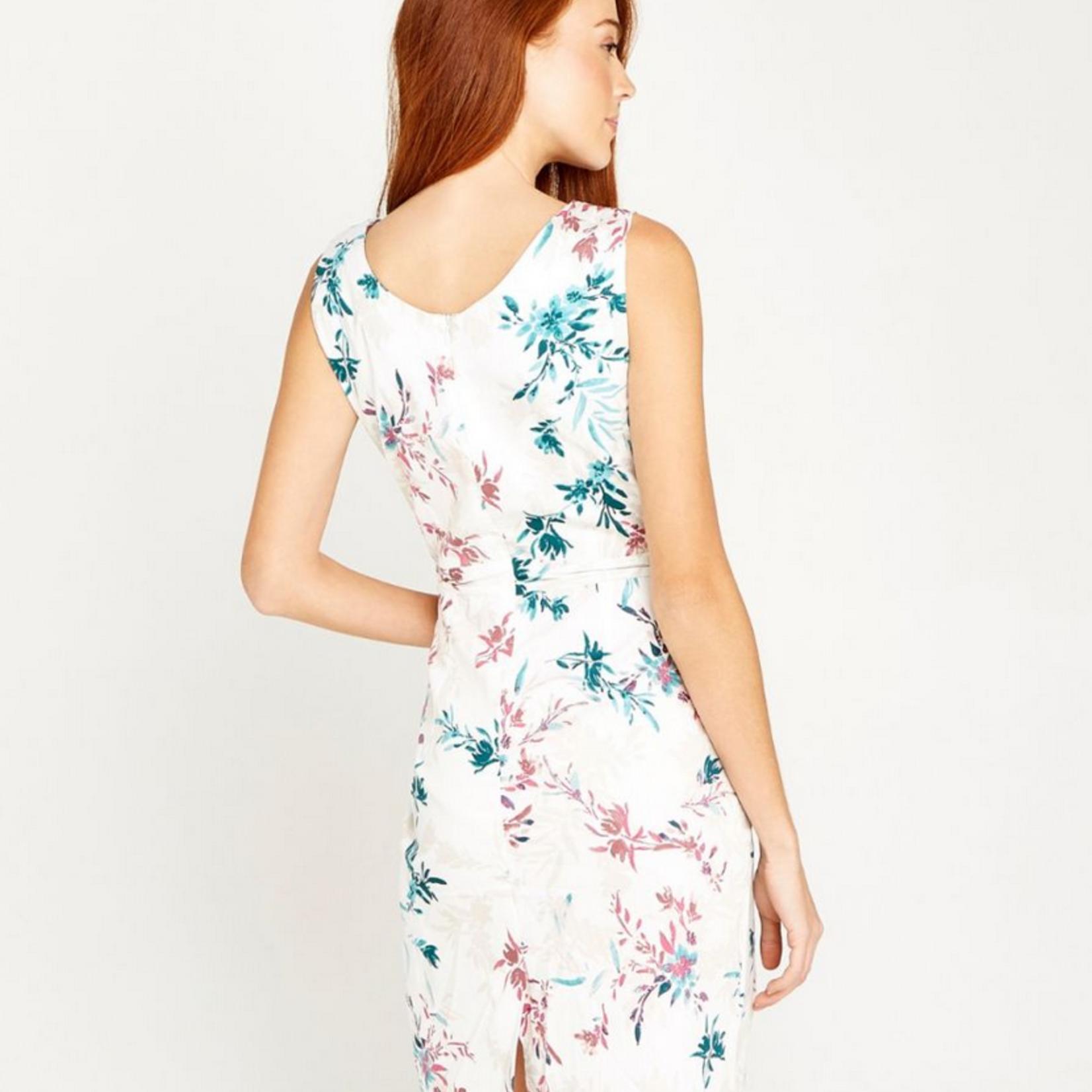 Floral poplin shift dress