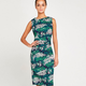 apricot - fern side ruched dress