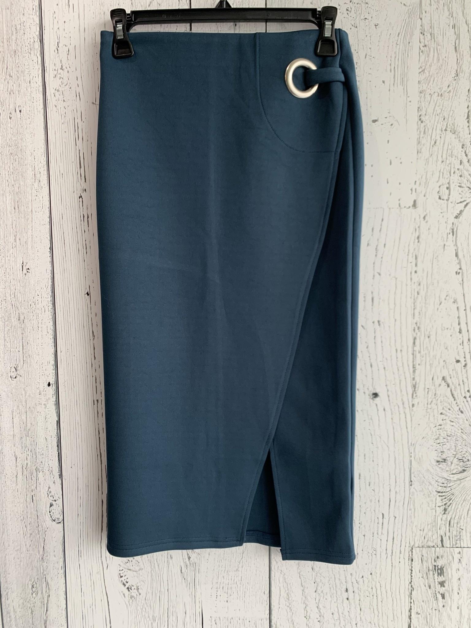 silver ring midi skirt